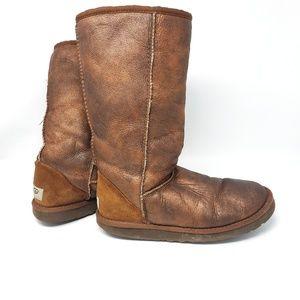 UGG Australia   Classic Tall Metallic Boots Size 7